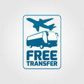 Free transfer icon service for any airport or airline needs vector illustration easy editable Royalty Free Stock Images