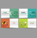 Free transport flat icon set Royalty Free Stock Photography