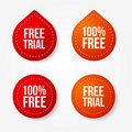 Free trial badges and stickers Royalty Free Stock Photography