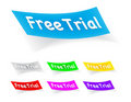 Free trial, stickers Royalty Free Stock Images