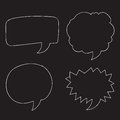 Free Vector Hand drawn bubbles speech Royalty Free Stock Photo