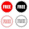 Free vector icon. Promotion and advertising illustration symbol. sale sign or logo. Royalty Free Stock Photo