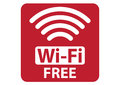 Free wi fi sign vector illustration Stock Photo