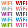 Free wi fi vector label eps Stock Photography