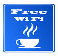 Free wifi available at bar here with coffee sign vector eps no mesh Stock Photo