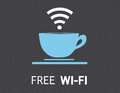 Free wifi coffee mug concept illustration design Royalty Free Stock Images