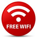 Free wifi red round button Royalty Free Stock Photo