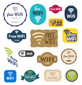 Free wifi sign different style set Stock Image
