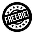 FREEBIE stamp typographic stamp Royalty Free Stock Photo
