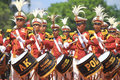 Freedom fighters day parade indonesia s struggle for independence participants featured attractions in surakarta java the to honor Royalty Free Stock Photography