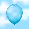Freedom illustration of blue balloon on sky background Royalty Free Stock Photo