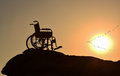 Freedom & loneliness  & disabilities & disabled Royalty Free Stock Photo