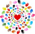 Freedom love diversity Royalty Free Stock Photo