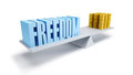 Freedom and money Royalty Free Stock Images