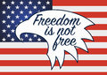 Freedom is not free. Veterans day in usa. Royalty Free Stock Photo
