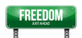 Freedom road sign illustration design over a white background Stock Images