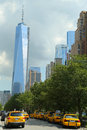 Freedom tower i lower manhattan Royaltyfria Bilder
