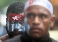 Freedom of west papua dozen papuan student takes part on a rally in solo central java indonesia december they are demanding the Stock Image