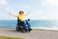 Freedom in wheelchair Royalty Free Stock Photo
