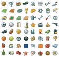 Freehand Assorted Icons Royalty Free Stock Photo