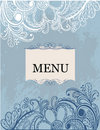 Freehand floral pattern menu Stock Images