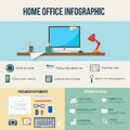 Freelance and home work infographic business statistic flat style vector illustration Royalty Free Stock Photography