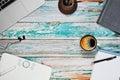 stock image of  Freelance illustrator workspace concept
