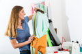 Freelancer - Fashion designer or Tailor working Stock Images