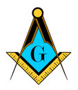 freemason symbol Royalty Free Stock Photo