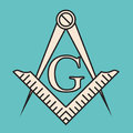 Freemasonry, Square And Compasses, Vector design