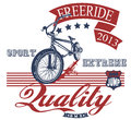 Freeride bike nice logo for bikers world ready for print on apparel Stock Photo