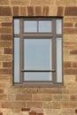Freestone Facade With Window Royalty Free Stock Photo