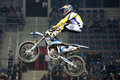Freestyle biker world championship motocross night of the jumps Royalty Free Stock Photo
