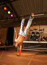 Freestyle hip-hop dancer Royalty Free Stock Photo