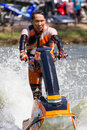 Freestyle the Jet Ski stunt action Stock Photos