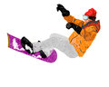 Freestyle skiing mountain extreme winter sport Stock Image
