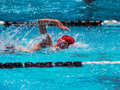 Freestyle swim heat Royalty Free Stock Photo