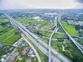 Freeway aerial view of in bangkok thailand Stock Photo