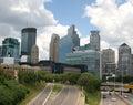 Freeway entrance to city of Minneapolis, Minnesota Royalty Free Stock Photo