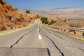 Freeway leading down from golan heights israel Stock Images