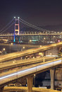 Freeway in night Stock Photography