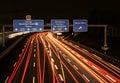 Freeway at night Royalty Free Stock Photo