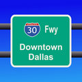 Freeway to Dallas sign Stock Image