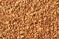 Freeze dried coffee close up golden color Stock Photos