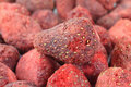 Freeze dried strawberries Royalty Free Stock Images