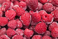 Freezed raspberries a lot of red Royalty Free Stock Photos