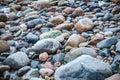 The freezed stones on coast of baltic sea a winter landscape Stock Photo