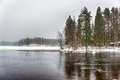Freezing cold lake Royalty Free Stock Photo