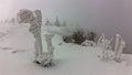 Freezing day in Giant Mountains Royalty Free Stock Photo