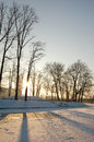 Freezing day in lower silesia polish landmarks and polish landscapes Stock Photography